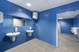 pomieszczenie sanitarne 1 - hala produkcyjno-magazynowa, dla Hutchinson, Łódź, woj. łódzkie