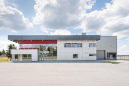 widok ogólny 2 - hala magazynowa z budynkiem biurowym, dla Tech-Met, Kolonia Sokolniki