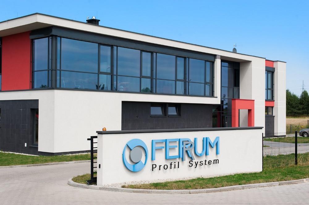 front obiektu - hala produkcyjna, dla Ferrum-Profil System, Częstochowa, woj. śląskie