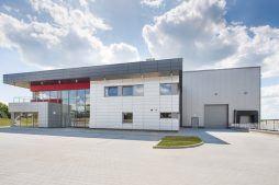 widok ogólny 3 - hala magazynowa z budynkiem biurowym, dla Tech-Met, Kolonia Sokolniki