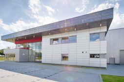 widok ogólny 4 - hala magazynowa z budynkiem biurowym, dla Tech-Met, Kolonia Sokolniki