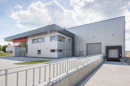 widok ogólny 6 - hala magazynowa z budynkiem biurowym, dla Tech-Met, Kolonia Sokolniki