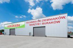 elewacja tylna - hala magazynowa z budynkiem biurowym, dla Agrarada, Domaniów, woj. dolnośląskie