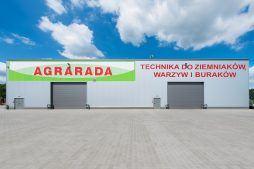 ściana tylna - hala magazynowa z budynkiem biurowym, dla Agrarada, Domaniów, woj. dolnośląskie