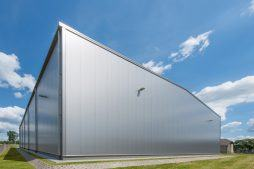 elewacja - hala magazynowa z budynkiem biurowym, dla Tech-Met, Kolonia Sokolniki