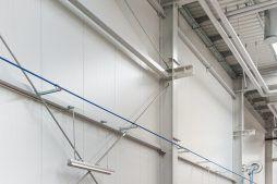 widok konstrukcji ściany z płyt warstwowych - hala produkcyjna, dla Wiefferink, Wykroty, woj. dolnośląskie