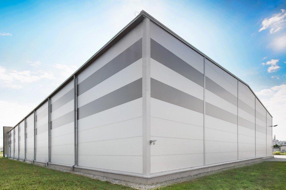ściana tylna i boczna - hala produkcyjna, dla Ferrum-Profil System, Częstochowa, woj. śląskie