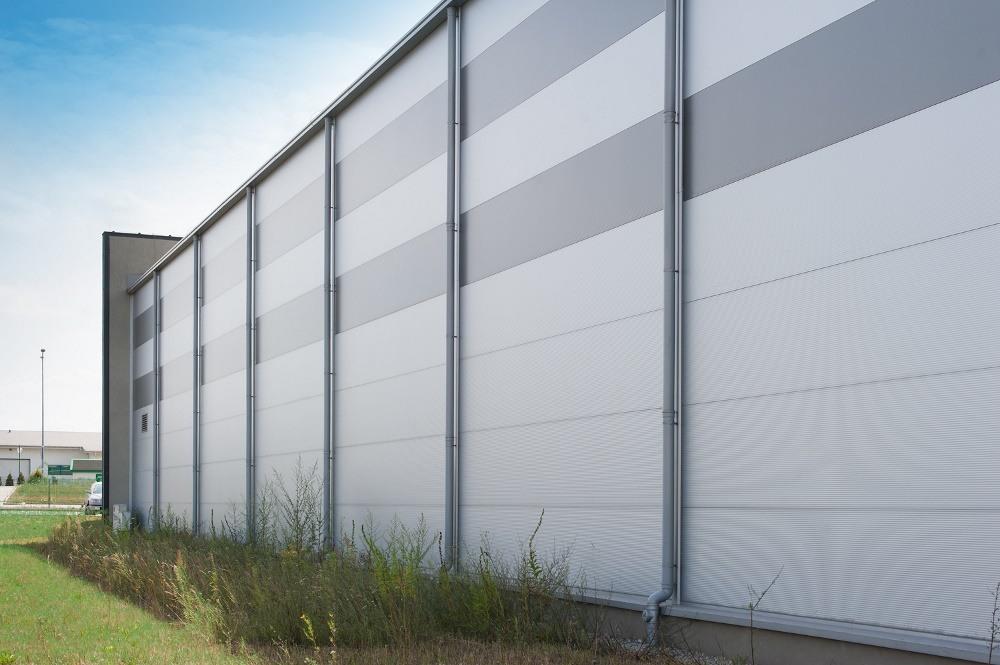 fragment ściany bocznej - hala produkcyjna, dla Ferrum-Profil System, Częstochowa, woj. śląskie
