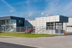 portiernia - hala produkcyjno-magazynowa z budynkiem biurowym, dla Duomat, Choszczno, woj. zachodniopomorskie