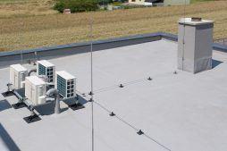 membrana dachowa - hala magazynowa z budynkiem biurowym, dla Tech-Met, Kolonia Sokolniki
