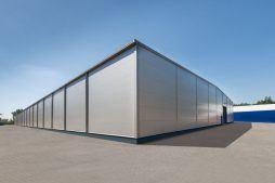ściana boczna i tylna - hala produkcyjna z budynkiem biurowym, dla Meblomaster, Węgrów, woj. mazowieckie