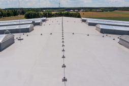 membrana dachowa 1 - hala magazynowa z budynkiem biurowym, dla Tech-Met, Kolonia Sokolniki