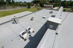 membrana dachowa 2 - hala magazynowa z budynkiem biurowym, dla Tech-Met, Kolonia Sokolniki