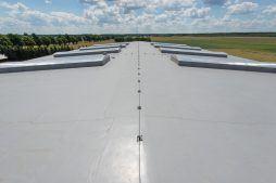 membrana dachowa 3 - hala magazynowa z budynkiem biurowym, dla Tech-Met, Kolonia Sokolniki