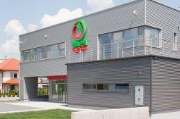 elewacja frontowa 1 - sortownia i przechowalnia owoców z częścią biurową, dla Gaik, Witalówka