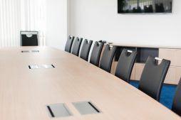 sala konferencyjna - hala magazynowa z budynkiem biurowym, dla Hurtap SA, Głogów, woj. dolnośląskie