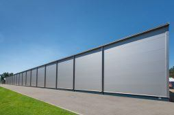 ściana boczna - hala produkcyjna z budynkiem biurowym, dla Meblomaster, Węgrów, woj. mazowieckie