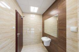 pomieszczenie sanitarne - hala magazynowa z budynkiem biurowym, dla Tech-Met, Kolonia Sokolniki