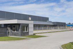 budka ochrony - hala produkcyjna z częścią biurową, dla Leann Stańczyk, Słupsk, woj. pomorskie
