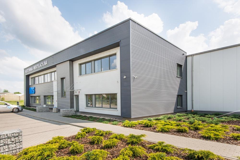budynek biurowy - hala produkcyjna z budynkiem biurowym, dla Irmark, Warszawa, woj. mazowieckie