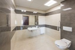 pomieszczenie sanitarne 3 - hala magazynowa z budynkiem biurowym, dla Tech-Met, Kolonia Sokolniki