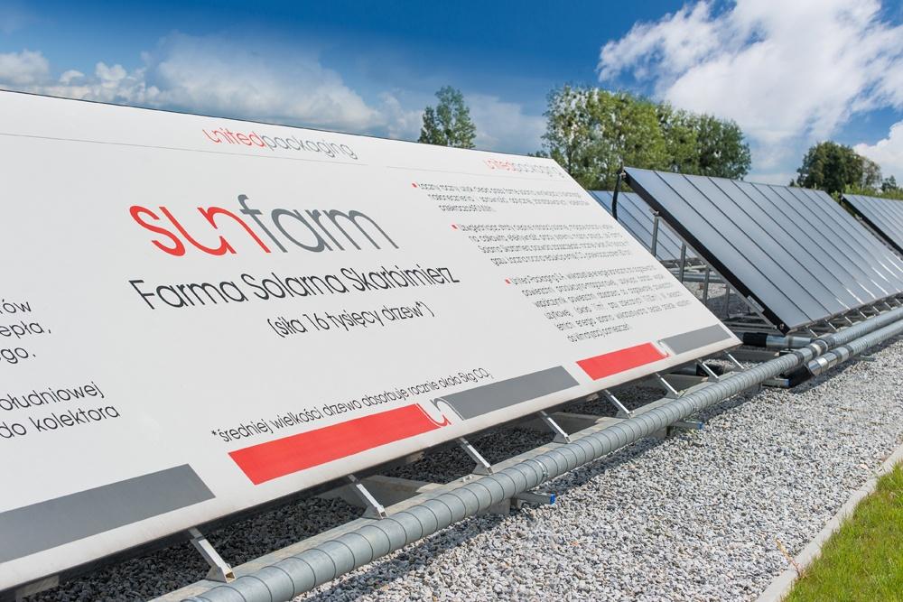 kolektory solarne 1 - hala produkcyjna z budynkiem biurowym, dla Uniservice, Skarbimierz, woj. Opolskie