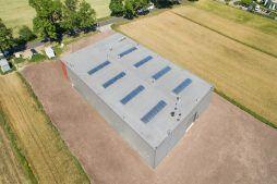 zdjęcie dachu z góry 1 - hala produkcyjna z częścią biurową, dla Protech, woj. śląskie