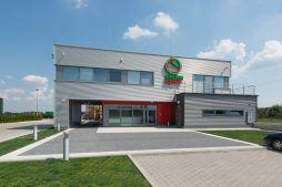 elewacja frontowa - sortownia i przechowalnia owoców z częścią biurową, dla Gaik, Witalówka