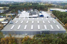 zdjęcie z drona - hala produkcyjna, dla firmy Meblomaster, Węgrów, woj. mazowieckie