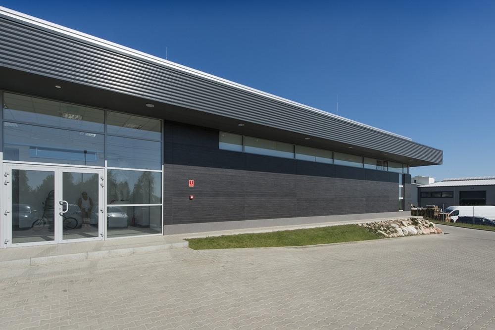 wejście główne - budynek socjalno-biurowy, firma Van Den Block, Gdańsk, woj.pomorskie