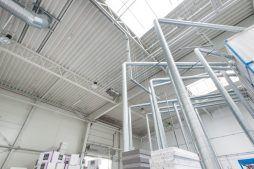 dach obiektu 1 - hala produkcyjna z częścią biurową, dla Styropmin, Łochów, woj. mazowieckie