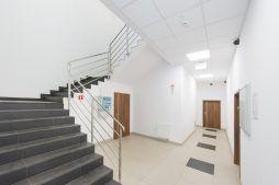 wnętrze - hala produkcyjna z częścią biurową, dla Styropmin, Łochów, woj. mazowieckie