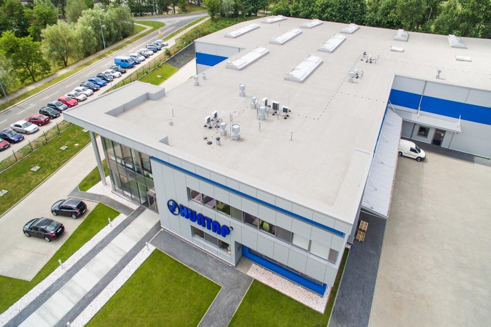 widok z góry 1 - hala magazynowa z budynkiem biurowym, dla Hurtap SA, Głogów, woj. dolnośląskie