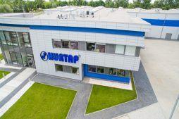 zdjęcie z góry - hala magazynowa z budynkiem biurowym, dla Hurtap SA, Głogów, woj. dolnośląskie