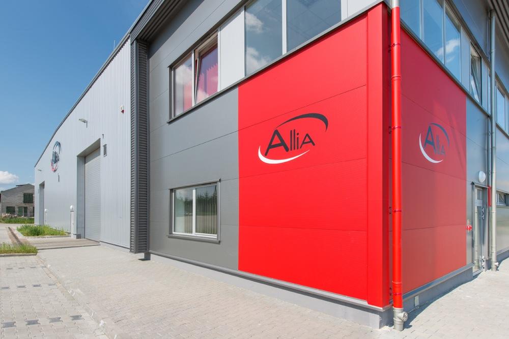 zbliżenie na część biurową 2 - hala produkcyjna z częścią biurową, dla Pritip, Puławy, woj. lubelskie