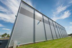 elewacja pokryta panelami z płyt warstwowych - hala magazynowa, dla Indeka, Kobylnica, woj. pomorskie