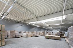 wnętrze obiektu - hala produkcyjna, dla firmy Meblomaster, Węgrów, woj. mazowieckie