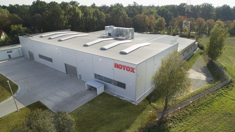 zdjęcie z lotu ptaka - hala produkcyjna, dla Rotox, Pokój, woj. opolskie