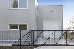 brama wjazdowa - hala produkcyjna z częścią socjalną, dla Marva International, Poznań, woj. wielkopolskie