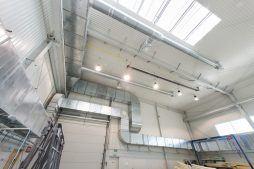 wnętrze - hala produkcyjna z częścią biurową, dla Markos, Słupsk, woj. pomorskie