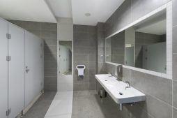 pomieszczenie sanitarne - hala produkcyjna z budynkiem biurowym, dla Adams, Mrągowo, woj. warmińsko-mazurskie