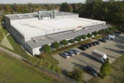 zdjęcie z drona - hala produkcyjna, dla Rotox, Pokój, woj. opolskie