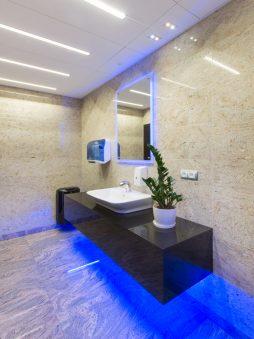 pomieszczenie sanitarne - hala produkcyjno-magazynowa z budynkiem biurowym, dla Polamp, Bieniewiec, woj. mazowieckie