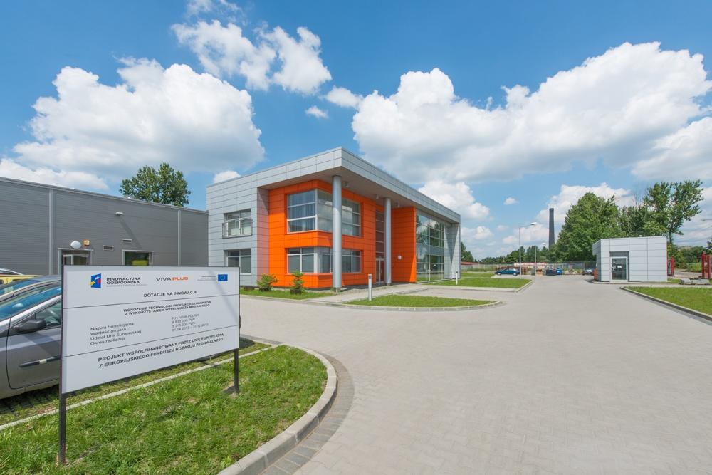 widok ogólny 2 - hala produkcyjno-magazynowa z budynkiem biurowym, dla Viva Plus, Bytom, woj. śląskie