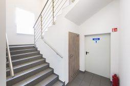 klatka schodowa - hala produkcyjna z częścią socjalną, dla Marva International, Poznań, woj. wielkopolskie