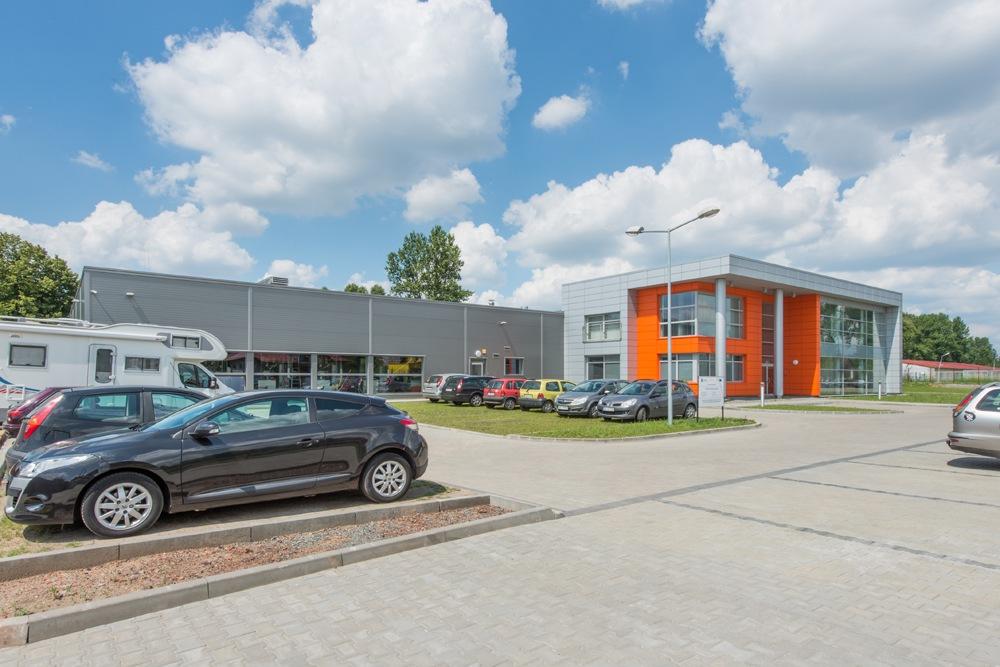 widok ogólny 3 - hala produkcyjno-magazynowa z budynkiem biurowym, dla Viva Plus, Bytom, woj. śląskie