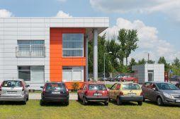 ściana boczna 1 - hala produkcyjno-magazynowa z budynkiem biurowym, dla Viva Plus, Bytom, woj. śląskie