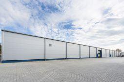 ściana zewnętrzna - hala produkcyjna, dla firmy Meblomaster, Węgrów, woj. mazowieckie