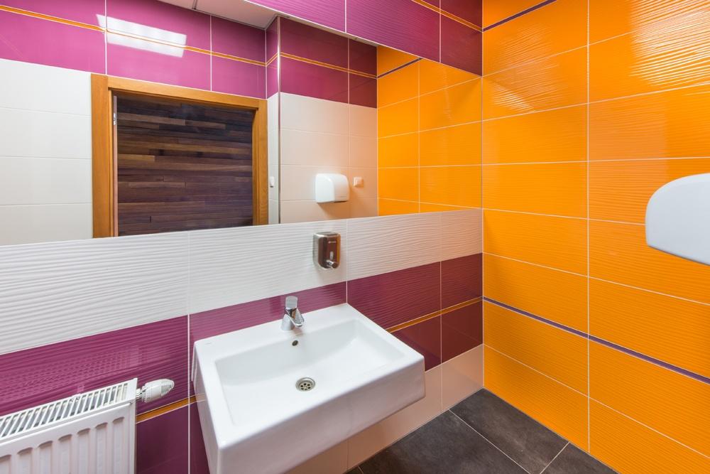 pomieszczenie sanitarne - sortownia owoców z częścią biurową, dla Europejskie Centrum Owocowe, Rębowola