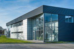 elewacja budynku biurowego - hala produkcyjno-magazynowa z budynkiem biurowym, dla Duomat, Choszczno